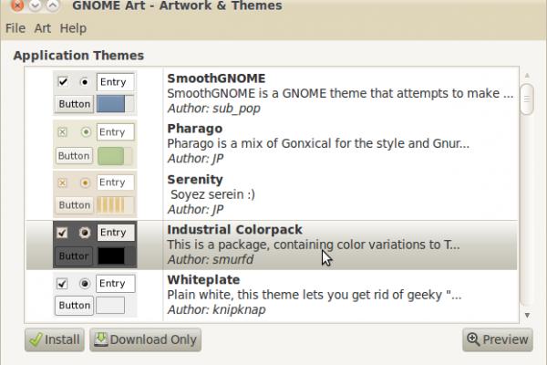 Новые темы в Gnome
