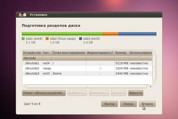 Ubuntu 10.04 Installation - 12 - Разметка жёсткого диска